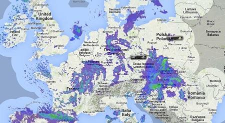 Radar pogodowy na Europą